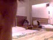 Sabroso palo en un hotel