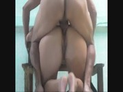 Adriana cogida duro por el culo sobre la silla