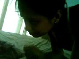 Colocando a chupar a una compañera de Veracruz