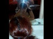 Sexo con mi putita nalgona de Michoacan frente al espejo