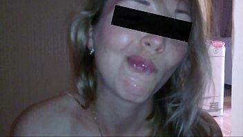 Esposa argentina chupa la pija hasta que terminan en su boca